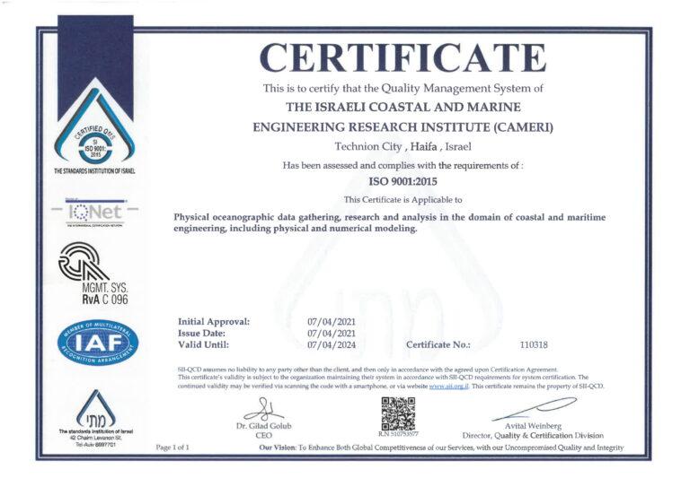 CAMERI ISO 9000:2015